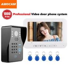 1000TVL IR Door Camera Video door phone System Video Intercom Doorbell kit support Password / Rfid Keyfobs Card Unlock