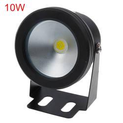 Светодиодный прожектор 10 W 12 V холодный белый/теплый белый Водонепроницаемый IP67 фонтан бассейн лампы черный/серебристое покрытие кузова