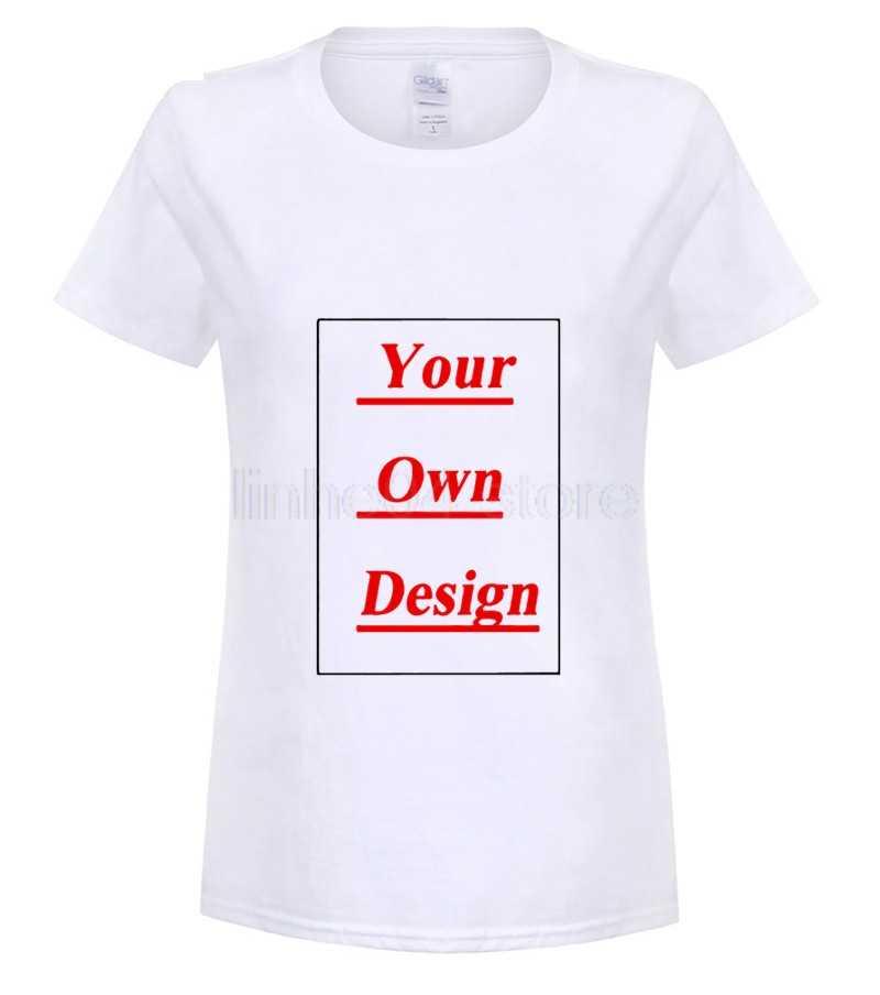 8fde9aa9f ... GILDAN 2019 customized t shirt logo printing short-sleeve top tees own  Custom Printed Personalized