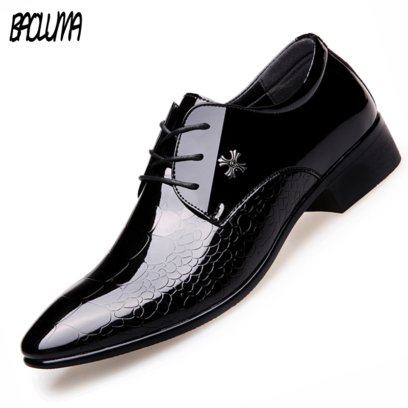 BAOLUMA Designer Shoes Luxury Mens Loafers Oxfor Men Black Patent Leather Flat Platform Shoe Formal Loafers Shoes Men's Luxury choudory mens designer shoes luxury brand elegant men formal shoes studded glitter loafers iron toe zapatos hombre pluse size46