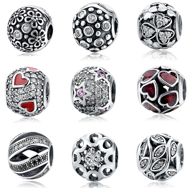 904064724 Image 2017 Hot Sales Silver 925 Jewelry Beads With Clear CZ Fits Pandora  Charms Bracelets Pendant
