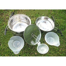 Hot Sale Outdoor font b Camping b font Hiking Cookware Backpacking Cooking Picnic Bowl Pot Pan