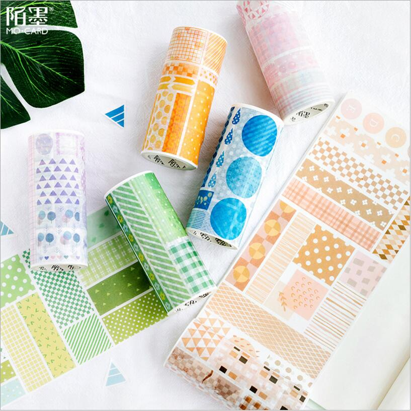 Rational 10cm Fresh Colourful Lattice Circle Washi Tape Decorative Adhesive Tape Masking Tape School Office Supply Label Stationery Office & School Supplies Office Adhesive Tape