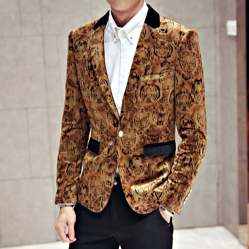 Images of Men Gold Blazer - Reikian