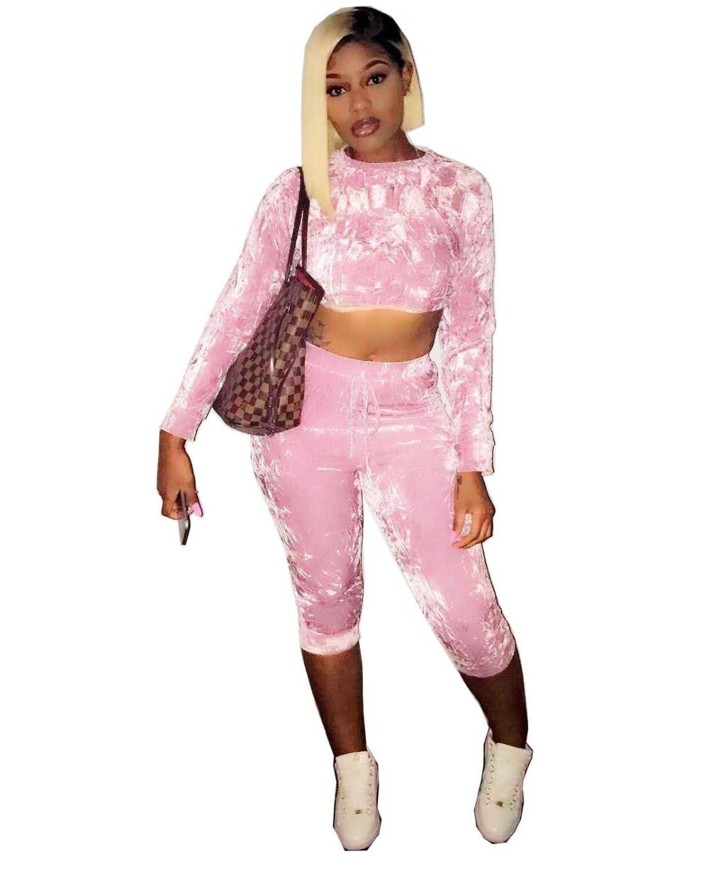 Women's Clothing Industrious Women Sexy Bodycon Jumpsuit Two Pieces Long Sleeve Velvet Bandage Bodysuit Women Ovearlls H6022 Yet Not Vulgar