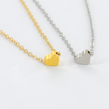 Новый Маленькое Сердце Ожерелье и Подвески для Женщин Золотой Цвет Цепь Любовник Леди Девушка Подарки Bijoux Ювелирные Изделия