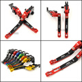 For Kawasaki Z1000SX Ninja 1000 Tourer  Motorcycle Accessories Adjustable Folding Extendable Brake Clutch Levers Red Color