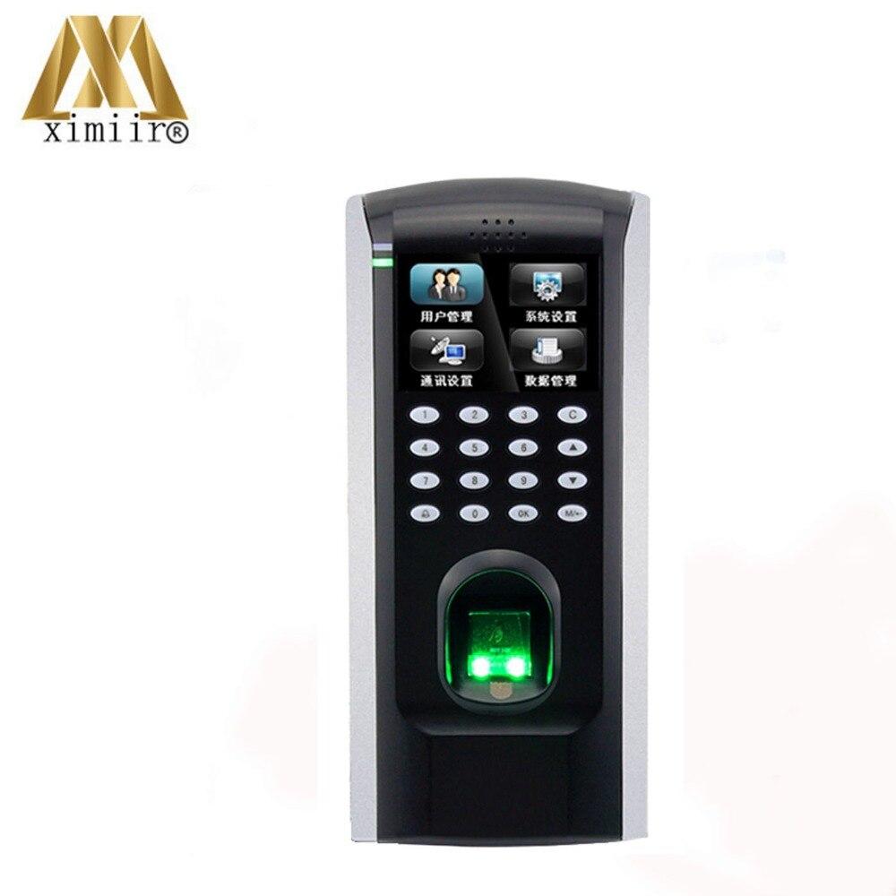 Дешевые ZK SF200 автономный отпечаток пальца контроля доступа и посещаемости времени TCP/IP двери Система контроля доступа
