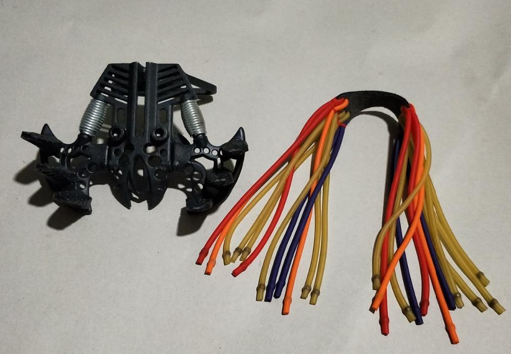 Slingshot DIY accessoires 24 sling bandes Puissante catapulte outil Robuste en acier au carbone Toute l'assemblée