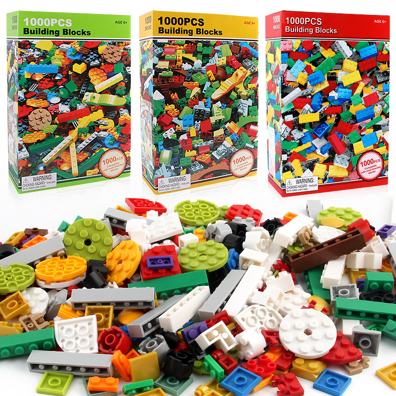 1000pcs Celtniecības bloki Ķieģeļi 3D konstruktors Izglītības - Celtniecības rotaļlietas
