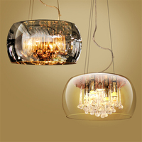 Скандинавский светодиодный стеклянный абажур, Хрустальная кухня, столовая и подвесные светильники для бара, светильники, абажур для лампы