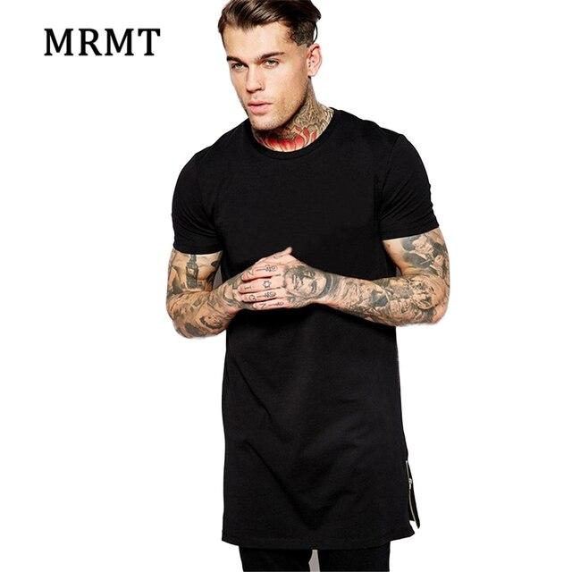 57f804f6e485 T shirt men Long Size Black Mens Tops T Shirt Short Sleeve Casual T-Shirt  With Zip Hip Hop Sale TShirt Fashion Better Quality