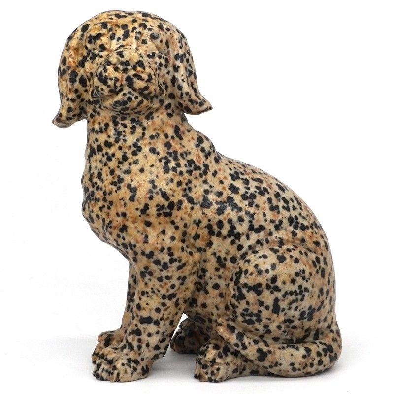 4.4 Dog Statue Natural Gemstone Dalmation Jasper Hand-Carved Crafts Home Decor4.4 Dog Statue Natural Gemstone Dalmation Jasper Hand-Carved Crafts Home Decor