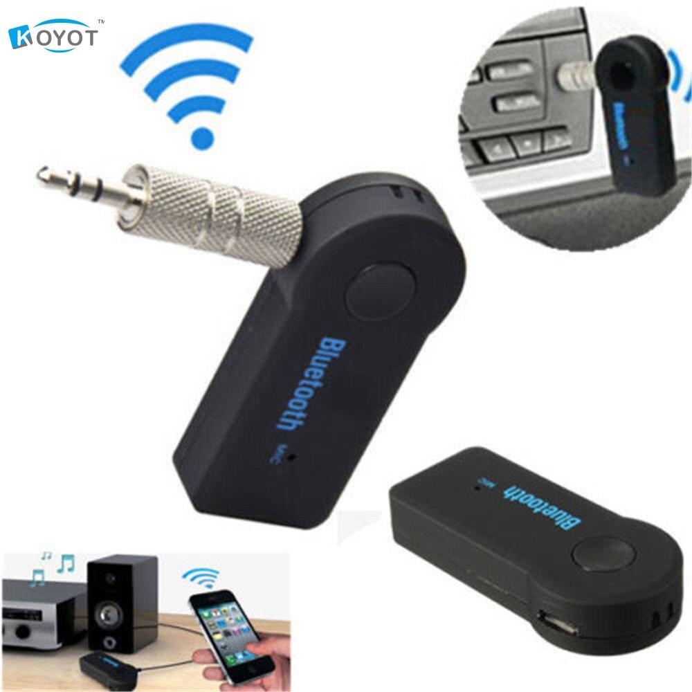 Receptor inalámbrico bluetooth altavoz adaptador de auriculares de 3.5mm de audi