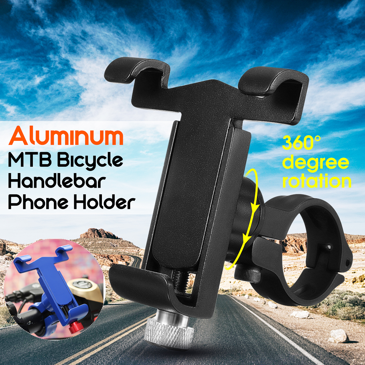 Universal Bicycle Phone Holder Aluminum Alloy MTB Bike