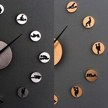DIY Кварцевые Часы Любители Сексуальных Позиций 3D Круги Акриловые Настенные Часы-Стикер