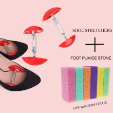 Mini Stretcher Shaper Width Extender Adjustable Shoe Trees and Foot Callus Remover Shoes Expander for Men's Women's Shoes 1 pair shoes trees expanding wide of shoes flats support device shoes trees adjustable shoe stretchers for women zh541