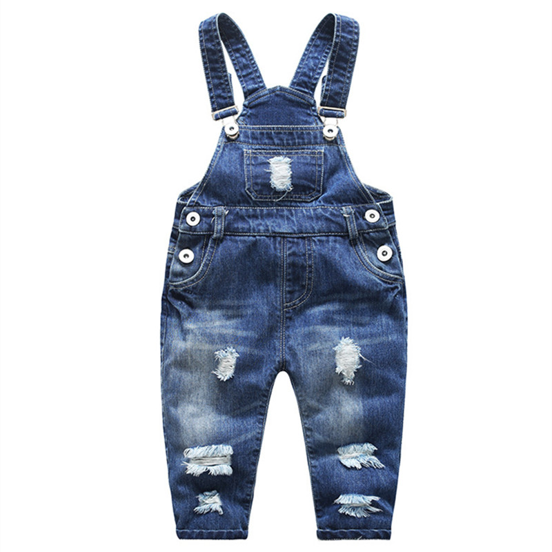 Jeans for Children Denim Pants Overalls Boy Ripped Jeans Girls Baby Boy Jeans Kids Clothes Casual Children's Jeans Kids Trousers guoran holes ripped jeans pencil pants women s high strech slim denim jeans leggings 26 32 femme pantalon light blue trousers