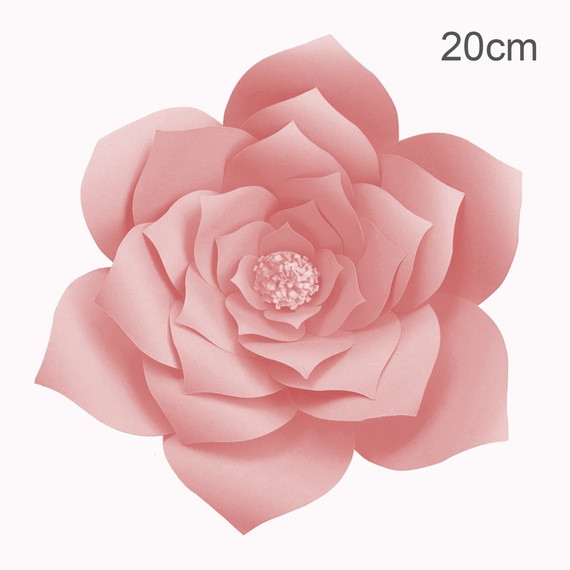 Image 2 - FENGRISE 20cm DIY Paper Flowers Backdrop Decorative Artificial Flowers Wedding Favors Birthday Party Home Decoration-in Artificial & Dried Flowers from Home & Garden