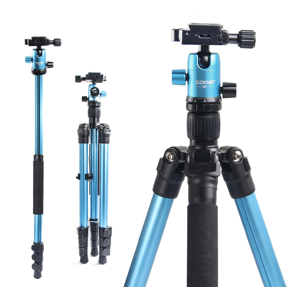 ZOMEI Camera tripod Zomei M3 Lightweight aluminium Alloy Stand Tripod Monopod with Ball Head Quick Release Plate for SLR camera bt 158 aluminium alloy 1460mm camera video monopod professional extendable tripod slr dslr holder stand with carry bag