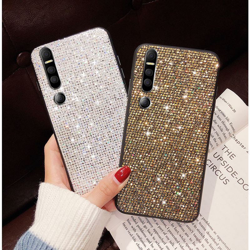 For <font><b>Huawei</b></font> p30 p20 <font><b>pro</b></font> honor 10 9i 8x play mate <font><b>20</b></font> p10 <font><b>Case</b></font> Glitter Lattice Soft Silicone Cover For <font><b>Huawei</b></font> nova 3i 4 2s 3e <font><b>Cases</b></font> image