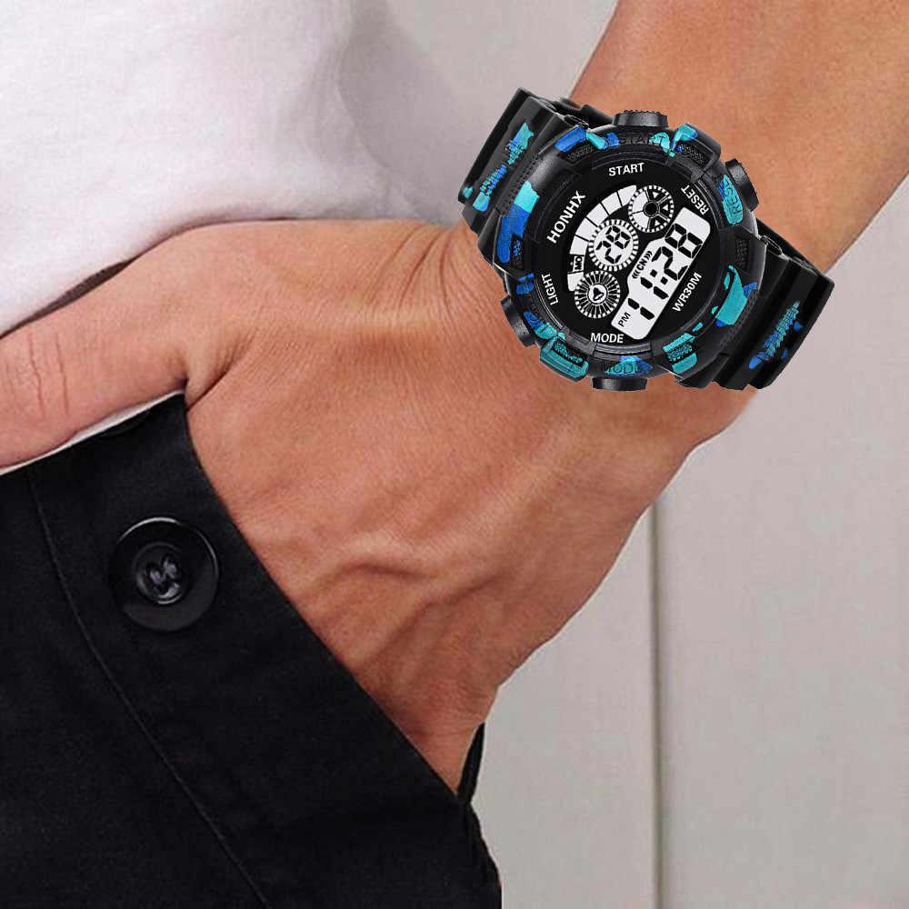 Relógio digital masculino camuflado, militar, estilo g, display de led, luxo, choque, esportivo, relógios de pulso eletrônico