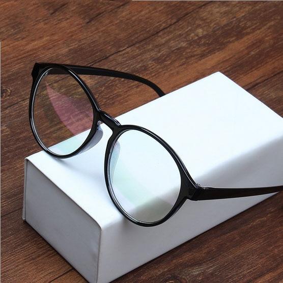 2016 wholesale price brand design fashion women big round frame eyeglasses men vintage computer anti radiation optical glasses