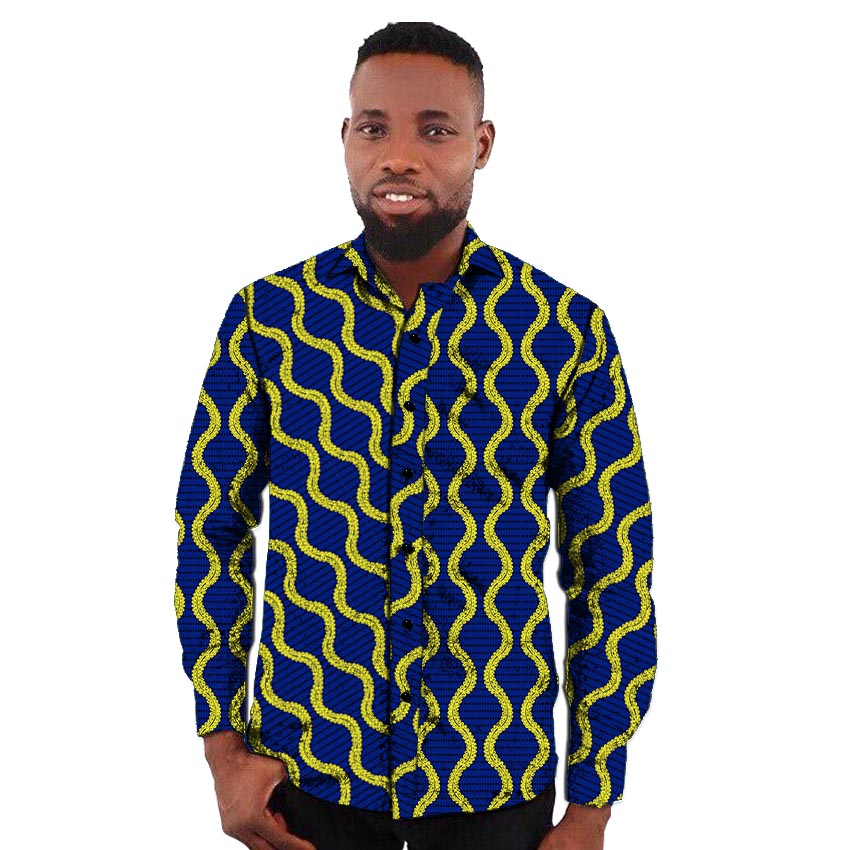 <font><b>African</b></font> print <font><b>men's</b></font> <font><b>shirt</b></font> turn down collar dashiki <font><b>shirts</b></font> for <font><b>men</b></font> fashion prints <font><b>wax</b></font> Ankara <font><b>shirt</b></font> tailor-made africa clothing image