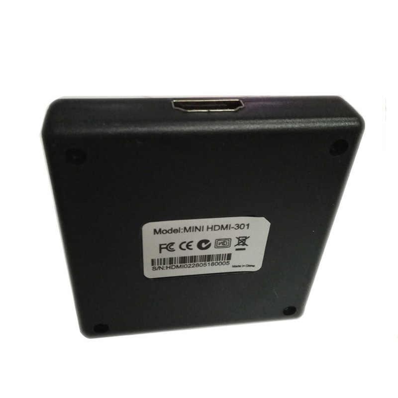 Nworld 3 ميناء مقسم الوصلات البينية متعددة الوسائط وعالية الوضوح (HDMI) الجلاد 1x3 منفذ HDMI صغير 3 المدخلات 1 الناتج كفم مفاتيح ل HDTV 1080P فيديو DV HDTV 1080P HDMI