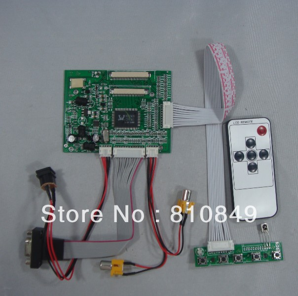 все цены на VGA+2AV Lcd driver board for HSD062IDW1 HSD070IDW1 HSD080IDW1 800*480 Lcd panel онлайн