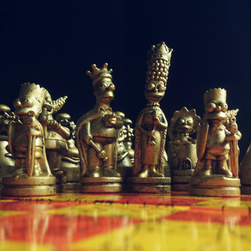 Chess Set Nice doll Chess Gold and silver Puzzle Game Cartoon Character Children Chess Set Nice gift for the Child 36 4 33cm cotta warrior chess q edition journey to travel cartoon characters chinese chess set chess lovers collection good gift