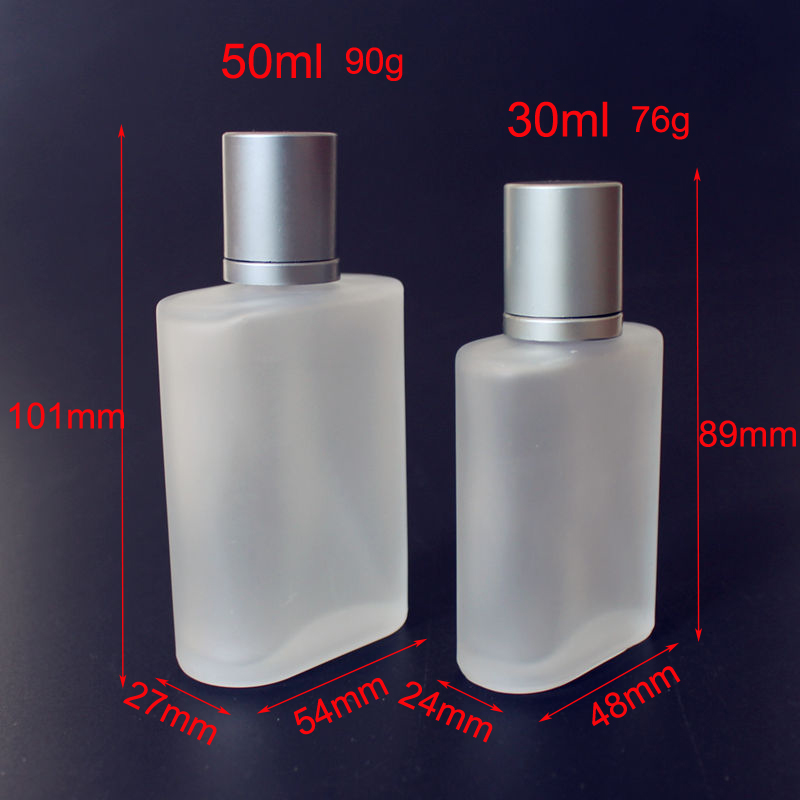 Image 2 - 1PC Frosted 30ml 50ml Glass Empty Perfume Bottles Spray Atomizer Refillable Bottle Scent Case with Travel Size Portable-in Refillable Bottles from Beauty & Health