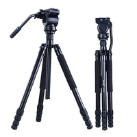 Video Ball Head 3 way Fluid Head Rocker Tripod Arm with Quick Release Plate for DSLR Monopod Sony Canon Nikon DV Camera