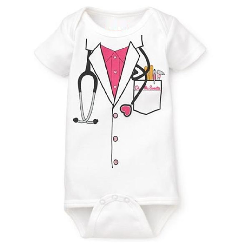 Hooyi 2018 Newborn Bodysuits Girls Doctor One-pieces Clothes 100% Cotton Body Baby Girl Jumpsuit Ropa De Bebe Baby Girl Clothes