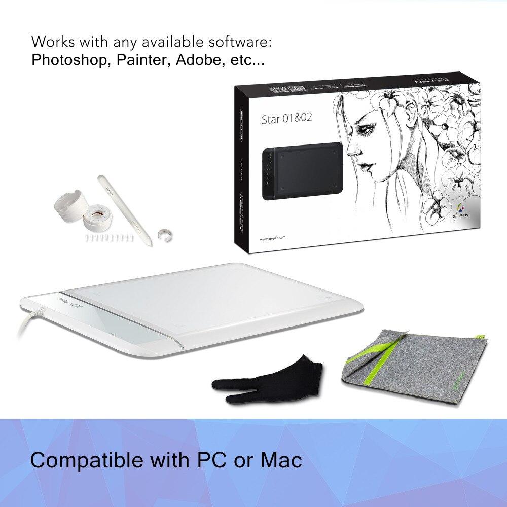 XP-Pen Star01 Digital Graphics Drawing Tablet Pen Tablet Digital Pad