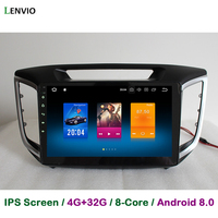 Lenvio 4GB RAM 32GB ROM Octa Core Android 8.0 CAR DVD GPS Navigation Player For Hyundai IX25 IX 25 2015 2016 Radio head unit IPS