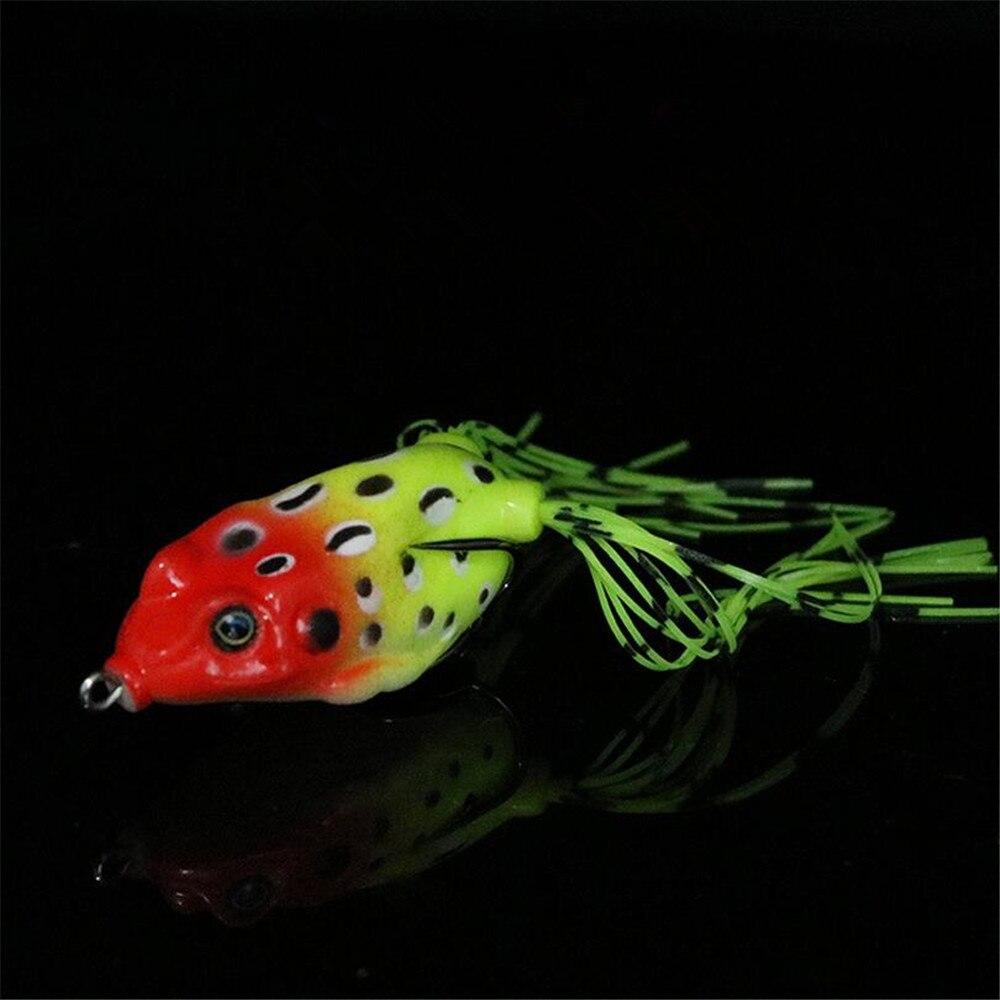 1 PCS 6.5 cm/15g Lifelike Soft Small Jump Frog Engaging Bait Silicone Bait for Crap Fishing Gear Crankbait Crankbaits 12 Colors 3
