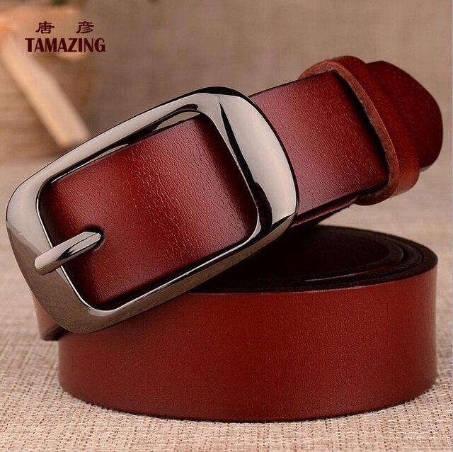 NUEVO LLEGAN las mujeres correa de cuero genuina desinger cinturones para las mujeres