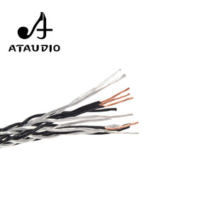 Image 4 - ATAUDIO Hifi Speaker Cable Hi end Hybrid OCC Silver Plated Diy Speaker Bulk Cable with 16 Strands