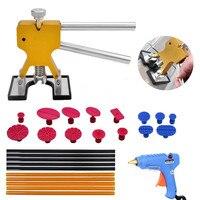 PDR Knockdown Tool Kits 16pcs Dent Removal Tool PDR Rubber Head Dent Hammer 6pcs PDR Hot Melt Glue Sticks