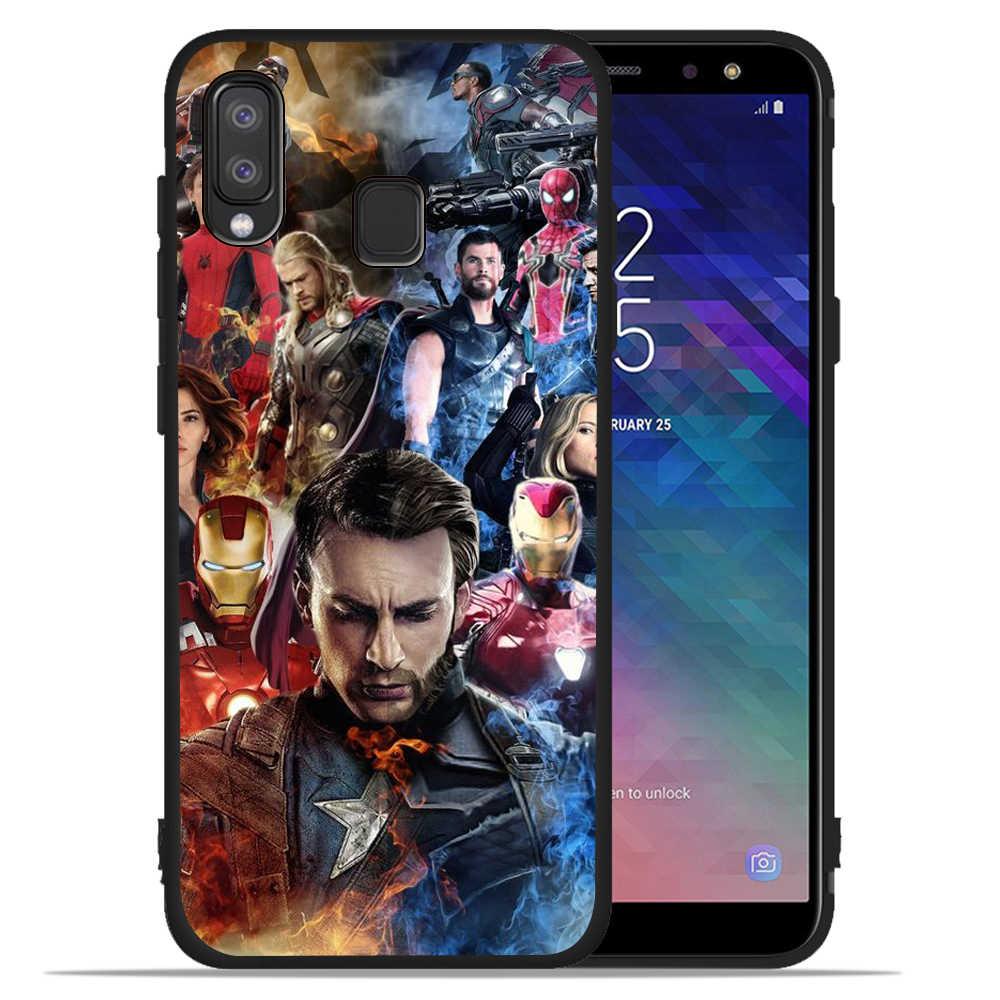 Sang trọng Marvel The Avengers Thanos Sắt Người Đàn Ông Trường Hợp Đối Với Samsung Galaxy A50 cho Bìa Smsung A20 A30 A40 A10 A70 M10 m20 Etui Cover Quay Lại