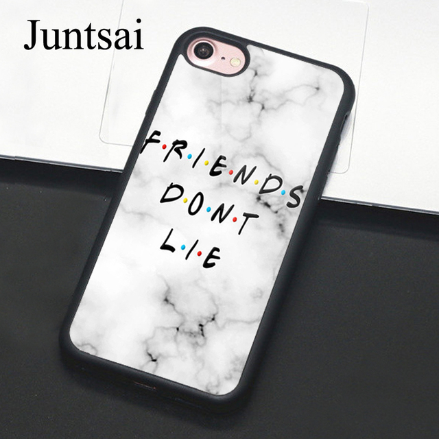 outlet store 80e54 d1fca US $4.08 5% OFF|Juntsai Friends Don't Lie Stranger Things Phone Case For  Apple iPhone 8 7 Plus 6 6s 5s SE TPU Cases Back Cover Capa For iPhone X-in  ...
