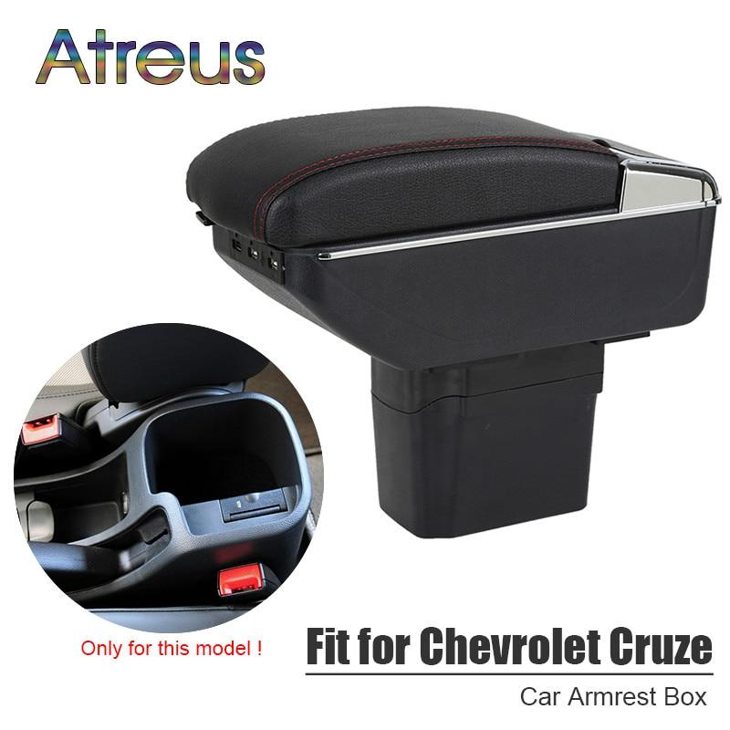 Pour Chevy Chevrolet Cruze 2009-2014 accoudoir boîte USB interface de charge augmenter central magasin contenu boîte support de verre cendrier