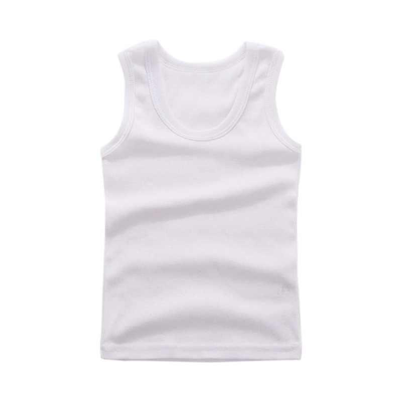 Bebê meninos colete verão crianças roupa interior de algodão meninas undershirts do bebê camisas de camisola para crianças
