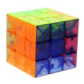 Professional 6 Colors 3x3x3 Speed Transparent Crystal Magic Cube Puzzle Game Twist Puzzle Toy