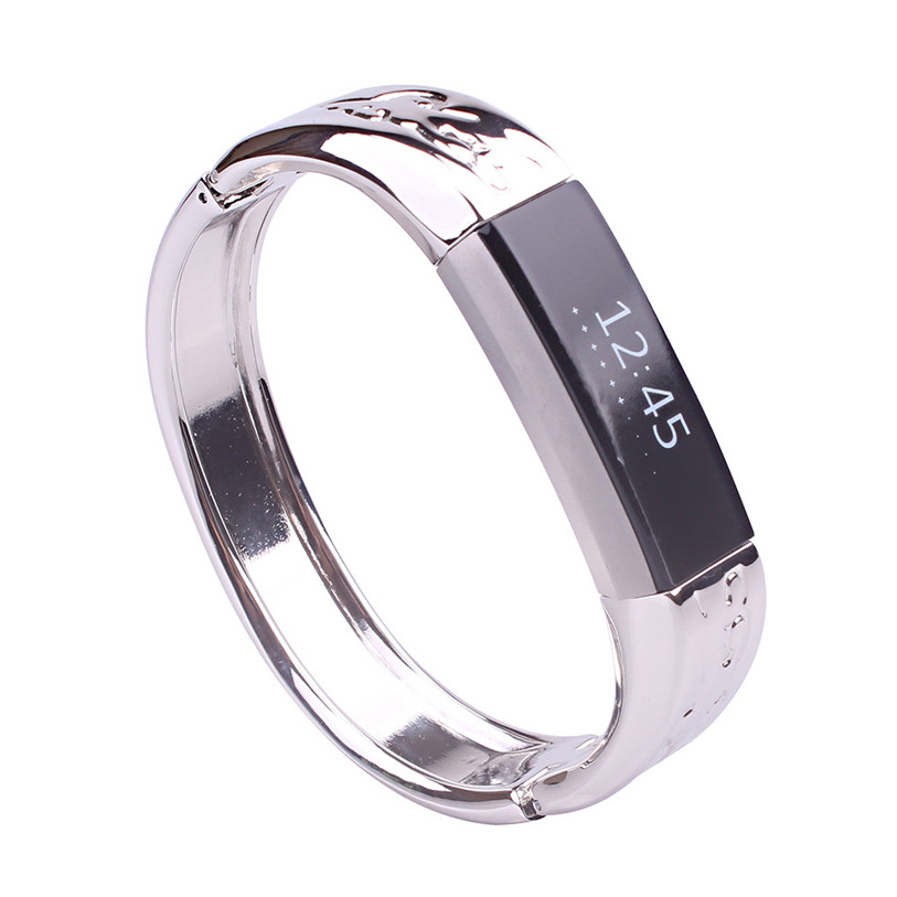 CARPRIE Wearable Devices Smart Accessories Genuine Stainless Metal Band Strap Jewelry Bracelet Bangle For Fitbit Alta JAN18