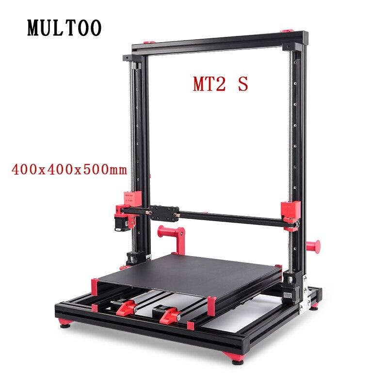 MULTOO MT2 линейная направляющая с настраиваемым Z осью высота высокая температура Высокоточный шариковый винт 500X500X600 400x400x500