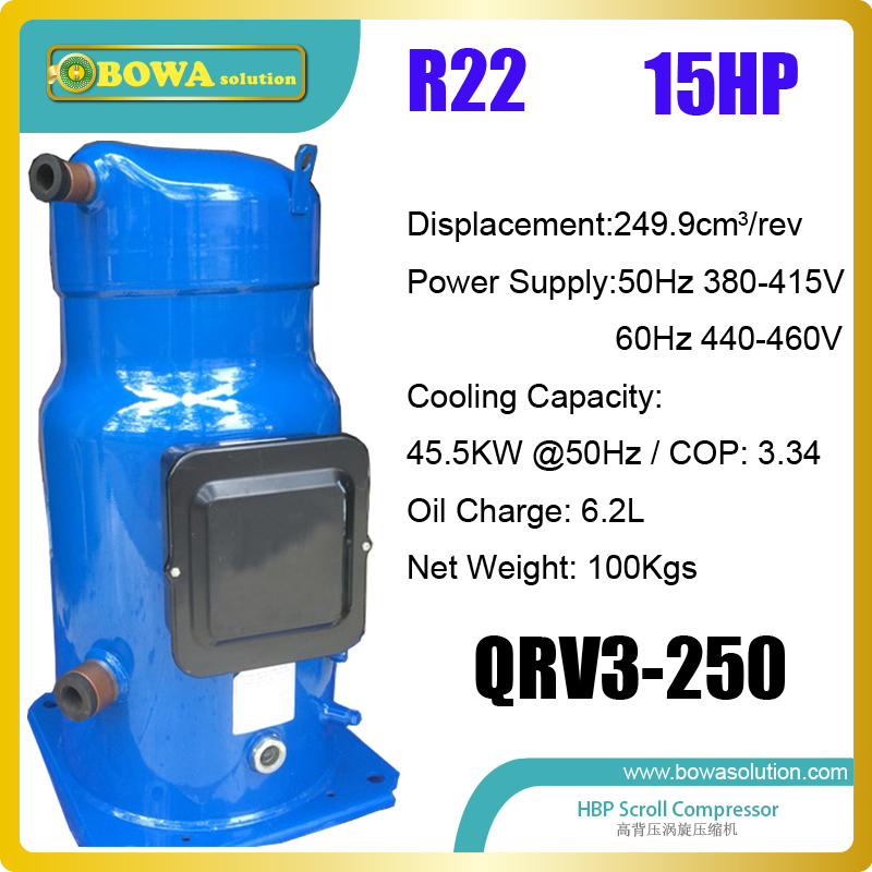 15HP scroll compressors is suitable for commerce air conditioners, water chillers, water temperature machines r410a hvac r solenoid valve with 4 5mpa working pressure is also suitable for r32 air condtioner or water chillers