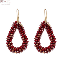 ФОТО jujia 2018 new earrings for aretes largos baroque big long earrings for women pendantes christmas drop dangling crystal earrings