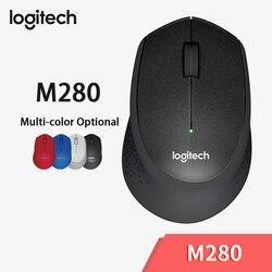 Logitech M280 mysz bezprzewodowa mysz biurowa z USB nanoodbiornik 1000dpi 2.4GHz mysz optyczna dla Windows 10/8/7 Mac OS